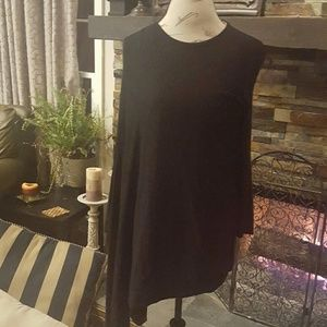 Alfani Asymmetrical Knit Poncho